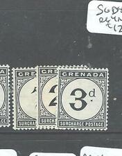 GRENADA (P2507B) POSTAGE DUES SG D8-10  MNH
