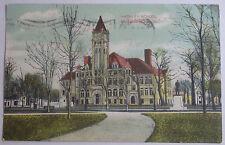 1908 POSTCARD HACKLEY SCHOOL MUSKEGON MICHIGAN