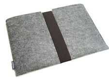 DELL XPS 15 felt laptop sleeve case wallet WITH STRAP, UK MADE, PERFECT FIT!