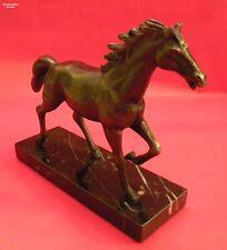 Pferdeskulptur Metall SiegerTrophäe Siegerpokal Reitturnier Schriebtischdeko