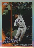 2010 Topps Chrome Baseball Refractor #22 David Wright New York Mets