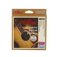 Alice AW432 Guitar Six Strings Coated Steel Set Anti-rust Light for Guitar V8M7