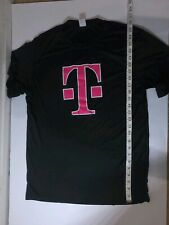 Authentic T-Mobile Cell Phone Mens Employee Graphic T-shirt Black Size Medium