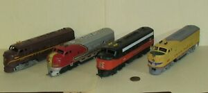 4 ho scale DIESEL ENGINES for Parts or Repair for Model Train Layouts & Display