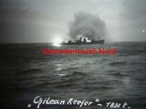 16) Foto Kriegsmarine 16.3.1941 Schlachtschiff GNEISENAU - Versenkung Chilean Re