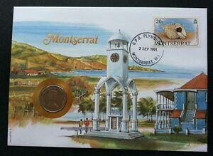Montserrat Seashell 1991 Marine Shell Ocean Beach Lighthouse FDC (coin cover)