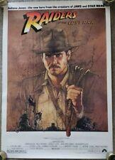 C9 Rolled! 1981 Raiders Of The Lost Ark Original Mini Movie Poster Amsel Art