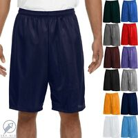 Men Mesh Shorts 2 Pockets workout Jersey pants Soft Basketball Gym Fitness Run