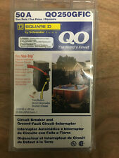 BRAND NEW Square D Circuit Breaker QO250GFIC 2 Pole 50 Amp 120/240V 60 Hz