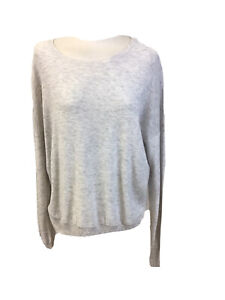 Orvis Large Size Ladies Grey Long Sleeved Sweater