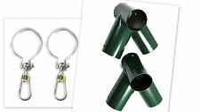 ROUND GREEN DIY KIT Make your own SWING SET: 2 Brackets and 4 swing hooks