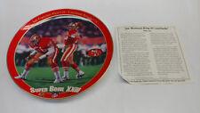 "Bradford Exchange Joe Montana 49ers King of Comebacks 8"" Collectors Plate"