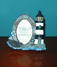 Photo Display Frame Candy Striped Lighthouse from Oakwood Farm, Spencer, Ma