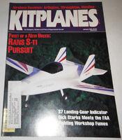 Kitplanes Magazine Rans S-11 Pursuit January 1993 080514R1
