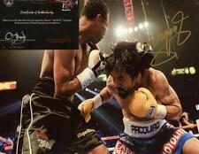 MANNY PAQUIAO BOXING CHAMP SIGNED 8X10 PHOTO W/COA