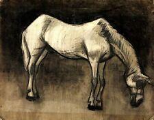 Old Nag Vincent Van Gogh Horse Painting Poster Fine Art Repro Print A4