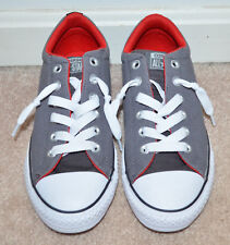 07fc642d8b62 Converse All Star Girls Junior Grey White Red Lace Up Sneakers Size  US 5