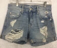 Lovers And Friends Blue Denim Walking Distressed Size 25