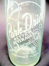 vintage ACL Soda POP Bottle: PARK DRIVE of PITTSBURGH, PA - 7 oz ACL