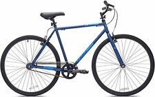 700c Men's Kent Fixie Bike, Blue, Single Speed Bicycle Full-protection chain