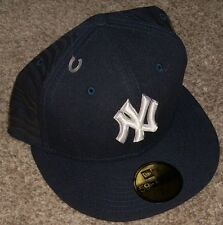 New! New Era MLB New York Yankees Spark Side Blue Fitted Cap Hat 7 1/2