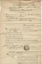 Post-Insinuations-Dokument über die Zustellung am 08.Dezember 1857!