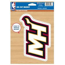 "Wincraft NBA Basketball Miami Heat 6.25"" x 9"" Die-Cut Logo Magnet new"