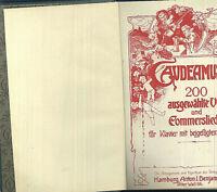 Gaudeamus - 200 ausgewählte Volks- und Commerslieder - Klavier u.Text - gebunden
