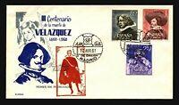 Spain 1961 Velazquez FDC / Alonso Hand Cachet / UA - L3413
