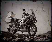 BMW R1200Gs Adventure 08 A4 Foto Impresión moto antigua añejada De
