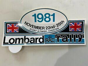 Lombard RAC Rally 1981 original sticker
