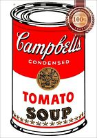 NEW ANDY WARHOL CAMPBELLS TOMATO CAN SOUP PAINTING WALL ART PRINT PREMIUM POSTER