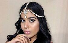 GOLD Pearl Rhinestone Jeweled Head Piece Hair Jewelry Bride Wedding Boho