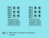 K4 N Decals Pittsburgh and Lake Erie Caboose Black P&LE