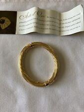 arte d oro 18k Italian gold bangle  bracelet New