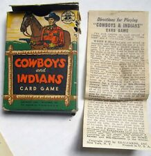 Cowboys and Indians Card Game 1949 Ed-U-Cards