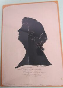 Silhouette of Kate Douglas Wiggin by Kate P. Parker Childrens author Circa 1910