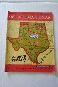 Cotton Bowl October 8, 1966 Program - Longhorns Sooners - Texas State Fair