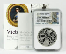 2019 Great Britain 5 Pounds Silver Queen Victoria 200th Ann. Piefort NGC PF-70UC