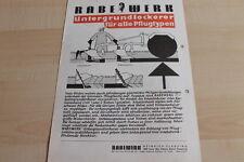 144570) Rabewerk Untergrundlockerer Prospekt 09/1969