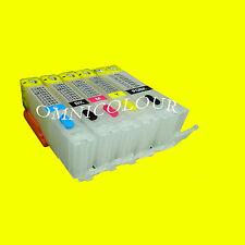 5 empty refillable cartridge for edible ink for Canon PGI-650 CLI-651 550 551