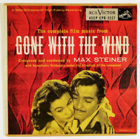 "Max Steiner Complete Film Music Gone With The Wind 2 x 7"" 45 RPM EP  soundtrack"