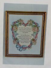 "Cross Stitch KIT ""WEDDING RING"" actual Wedding Invitation goes in center"