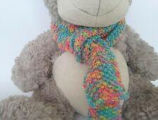 Teddy Bear Clothes, Vibrant Gelato Colour HandKnitted Scarf for bears,dolls,toys