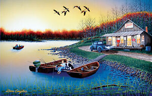JACK'S PLACE by Don Engler - SunsOut 550 piece LAKE FISHING puzzle - NEW