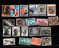 #3370=India early used selection of different commemorative stamps