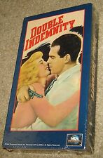 Double Indemnity Vhs, New & Sealed, Fred Macmurray, Barbara Stanwyck, A Classic!