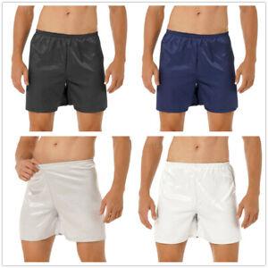 Men Shorts Nightwear Silk Satin Boxers Pyjamas Pants Lounge Sleepwear Underwear