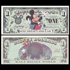 Disney 1 Dollar, 2000, A Series, UNC Fantasy Banknote Mickey Mouse