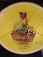 Rockwell 1976 Four Seasons Summer FISH FINDERS Boy & Grandpa Ltd Ed Plate
